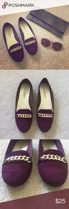 Christian Soriano Dark Purple Gold Chain Loafers Great condition! Hardly worn. Purchased from Payless. Make an offer! Christian Siriano Shoes