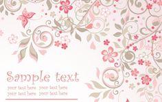 Background floral rosa