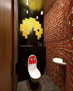 You S*it Every Day, So You Have To Turn This Process Into A Wonderful Adventure, Outrageous Toilet Design Small Basement Design, Video Game Rooms, Man Cave Home Bar, Toilet Design, Gamer Room, Suites, Bars For Home, Bathroom Interior, Room Decor