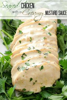 This pan seared chicken with a creamy mustard sauce is a great way to ...