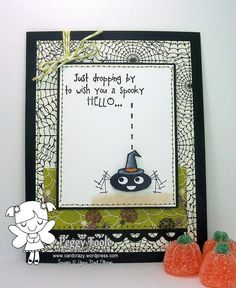 Spooky Hello (cling set) [HRSH02] - USD 8.95 : Your Next Stamp