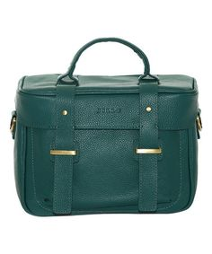 Loving this Teal Juliette Leather Camera Bag, $85 on #zulily! #zulilyfinds