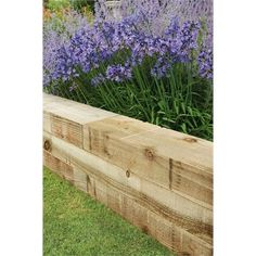 Find Forest Non Creosote Railway Sleeper - at Homebase. Visit your local store for the widest range of garden & outdoor products. Raised Beds Sleepers, Railway Sleepers, Raised Garden Beds, Garden Edging, Garden Borders, Landscaping Tips, Garden Landscaping, Back Gardens, Outdoor Gardens
