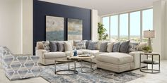 Beach Living Room, Living Room Sets, Living Room Modern, Cindy Crawford Furniture, Cindy Crawford Home, Rooms To Go Furniture, Bedford Park, Cottage Dining Rooms, Couch And Loveseat