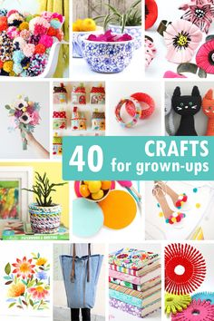 40 CRAFTS FOR ADULTS including jewelry, accessories, home decor.
