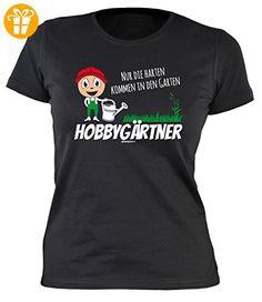 Damen Shirt mit coolem Gärtner-Motiv: Hobbygärtner, nur die harten kommen in den Garten - Geburtstag - Farbe: schwarz (*Partner-Link)