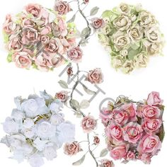 New Rose Garlands Vintage Style Rose Floral Garland Wedding Home Decoration in Home, Furniture & DIY, Home Decor, Dried & Artificial Flowers | eBay