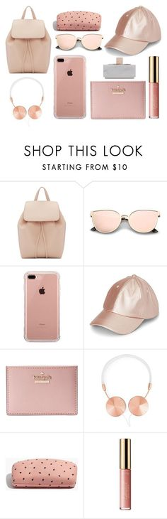 """What's in my Backpack?"" by ranixcamande on Polyvore featuring Mansur Gavriel, Belkin, Simons, Kate Spade, Frends, Madewell, tarte and Native Union"