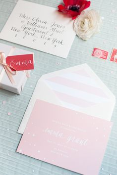 Blush invitations for a super chic bridal #shower  Photography: Brklyn View Photography - www.brklynview.com  View entire slideshow: Bridal Shower Details on http://www.stylemepretty.com/collection/464/