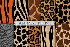 Animal Print Patterns - Zebra Print by Paper Element on @creativemarket