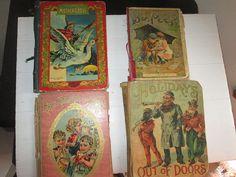 Four Antique Victorian Children's Books C 1900 Christmas Santa Holiday Bo Peep Mother Goose by suburbantreasure on Etsy