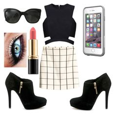 """""""Rachel (rclbeauty101) inspired outfit"""" by kenr5 ❤ liked on Polyvore featuring Posh Girl, H&M, MICHAEL Michael Kors, Chanel, LifeProof and Revlon"""