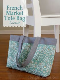French Market Tote Bag Tutorial 2019 A Bright Corner: French Market Tote Bag Tutorial The post French Market Tote Bag Tutorial 2019 appeared first on Bag Diy. Bag Pattern Free, Bag Patterns To Sew, Tote Pattern, Sewing Patterns, Free Tote Bag Patterns, Best Tote Bags, Diy Tote Bag, Zippered Tote Bag, Quilted Tote Bags