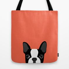 Boston Terrier Tote Bag by Anne Was Here - $22.00