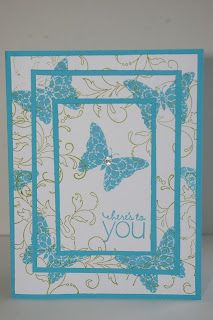 cute butterfly card!