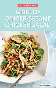 Sesame Lime Chicken Salad Recipe — Dishmaps