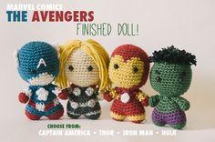 Crochet Marvel Avengers Superhero Doll // by electricbunnycrafts