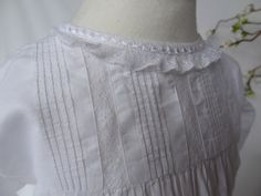 Vintage Christening or Baptism Dress, lightweight and excellent condition, to fit 6 months or younger. Stocked by Lilys Vintage Linens on Etsy, specialist in white fabric antiques.