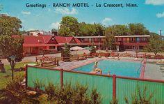 Ranch Motel - La Crescent, Minnesota Postcard