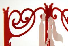 Gazebo con sposi, combinazione di colore bianco/rosso nettuno!