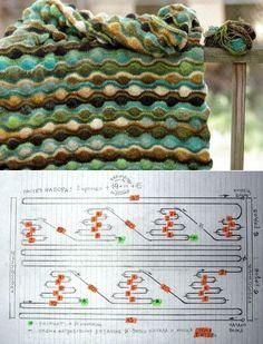 Оригинальное вязание спицами.УЗОР.