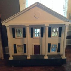 Southern Plantation Doll House - Custom Built Wooden Antebellum Doll house, furn #Unbranded