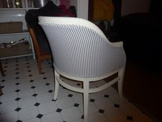 Back of tub chair (After upholstered)