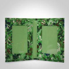 Dark Green Handcrafted Fabric Cover Photo Frame Double - 9 X 7 Inches