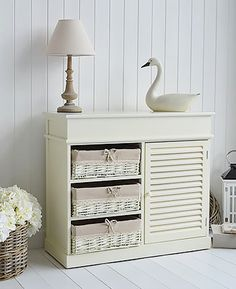 Cream Storage Furniture - Hamptons Sideboard - Bedroom, Bathroom, Living Room