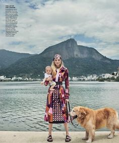 Model Caroline Trentini is lensed by Mario Testino with her two children Bento Jacob and Benoah in 'Home Chic Home'. Tonne Goodman styled the Brazilian-born Caroline for Vogue US March Hair by Max Weber; Mario Testino, Editorial Photography, Fashion Photography, Photography Magazine, Caroline Trentini, Suede Trench Coat, Laide, Embellished Skirt, Vogue Us