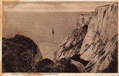 Beachy Head and Lighthouse Eastbourne Lighthouse Postcard Old Postcards, Photo Postcards, Lighthouses, Moonlight, Grand Canyon, Travel, Ebay, Viajes, Destinations