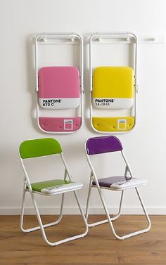 Yes times a thousand. Pantone folding chairs. From Uncommon Goods. $75