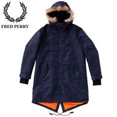 フレッドペリー MEN'S FRED PERRY F2400 MA-1モッズパーカー/M :f2400:G-Couture - 通販 - Yahoo!ショッピング Fishtail Parka, Raincoat, Fashion, Jackets, Rain Jacket, Moda, Fashion Styles, Fashion Illustrations
