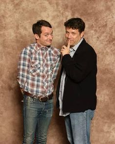 Photo of Sean Astin & his friend actor  Elijah Wood -
