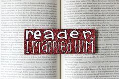 Hand Painted Bookmark // Reader I Married Him // by PeelsandPosies