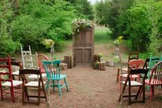 Wedding Inspiration | Mismatched Vintage Chairs | UBetts Rental & Design