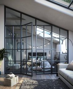 1 Zimmer Wohnung Beds: Smart Buying Tips You might lik Loft Style Bedroom, Home Bedroom, Bedroom Inspo, Bedroom Ideas, Design Bedroom, Loft Bedroom Decor, Loft Bedrooms, Master Bedroom, Bedroom Shelves