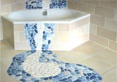Напольная мозаика в ванной