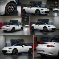 """topmiata: """"The ND Accessories Concept at Chicago Motor Show. Items that should be available as optional extras: - Forged black 17-inch BBS alloy wheels & 205/45 rubber. - Brembo braking package complete with red calipers. - Gloss black aero kit that includes a front lip spoiler, extensions to the side sills, a boot lip spoiler and a rear bumper skirt. - Carbonfibre luggage rack. Weighing under 900 grams, the luggage rack fits onto the car's boot lid and include a high-mount brake light. ..."""