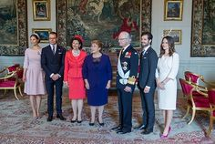 King Carl Gustaf XVI, Queen Silvia, Crown princess Victoria, Prince Daniel, Prince Carl Philip and his wife Princess Sofia welcomed Chilean President Michelle Bachelet at the Royal Palace on May 10, 2016 in Stockholm.