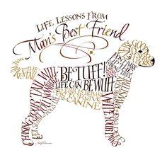 """Man's Best Friend""  --  [Heirloom Artist Holly V. Monroe - 2011]'h4d'121019"