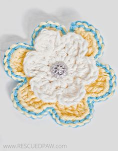 Learn to Crochet a Spring Flower!! Free Pattern From Rescued Paw