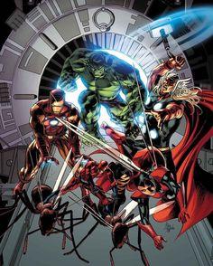 The Original Squad by my favorite @mikedeodato   Go read a comicbook!! Download at nomoremutants-com.tumblr.com   #marvelcomics #Comics #marvel #comicbooks #avengers #captainamericacivilwar #xmen #xmenapocalypse  #captainamerica #ironman #thor #hulk #ironfist #spiderman #inhumans #civilwar #lukecage #infinitygauntlet #Logan #X23 #guardiansofthegalaxy #deadpool #wolverine #drstrange #infinitywar #thanos #gotg #RocketRaccoon #groot #nomoreinhumans http://ift.tt/2gTc1YX