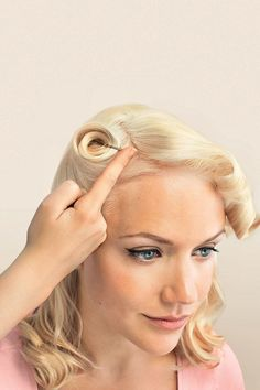 Vintage Hairstyle - Victory Rolls #vintagehairstyles #hairstyle http://tinkiiboutique.com/