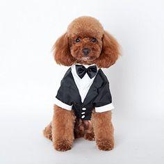 Norbi Pet Dog Cat Prince Wedding Bow Tie Suit Tuxedo Clothing