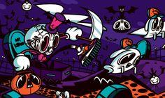 Wallpaper Día de Muertos by Mr. Kone, via Behance