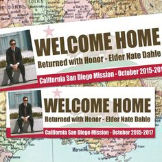 digital file - lds missionary welcome home poster - missionary