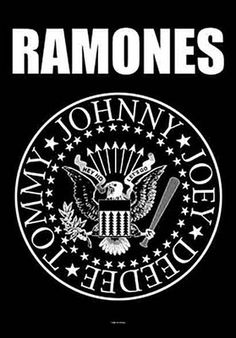 The Ramones Eagle Logo Fabric Poster