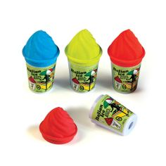 Italian Ice Sharpener and Eraser - Scents: cherry, orange, watermelon, blueberry
