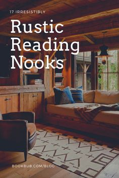 We love these irresistibly rustic reading nooks. Reading Nook Kids, Library Inspiration, Nook Ideas, Cozy Nook, Book Nooks, Great Books, Book Lovers, Decorating Ideas, Cabin